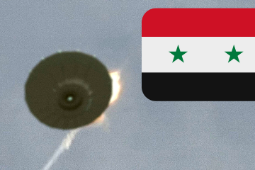UFO SHOT DOWN OVER SYRIA